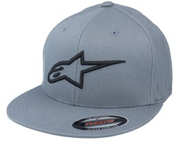 Ageless Flat Hat Charcoal/Black Fitted - Alpinestars