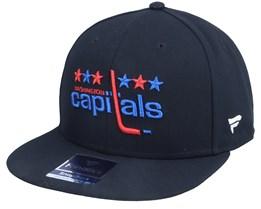 Washington Capitals Primary Logo Core Black Snapback - Fanatics