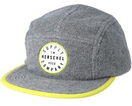 Glendale Grey/Cyber Yellow Strapback - Herschel