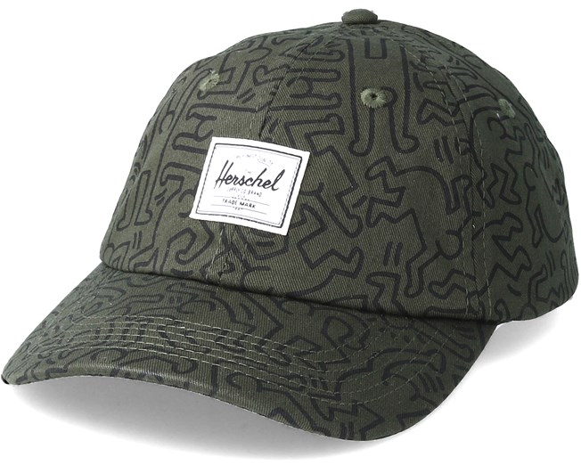 Sylas Forest Night Keith Haring Adjustable - Herschel caps -  Hatstoreworld.com 56db7e7a251
