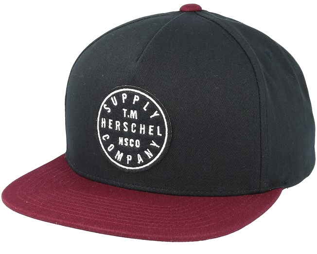 1256d408b42 TM Black Windsor Wine Snapback - Herschel - casquette