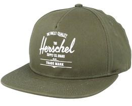 Whaler Ivy Green Snapback - Herschel