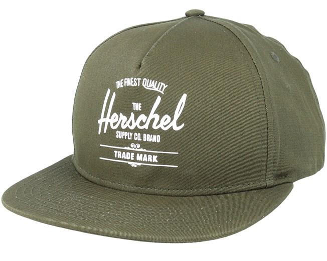 7720a4982e Whaler Ivy Green Snapback - Herschel caps | Hatstore.co.uk