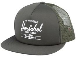 Whaler Mesh Dark Olive Trucker - Herschel