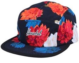 Glendale Embroidery Vintage Floral Black/Black 5-Panel - Herschel