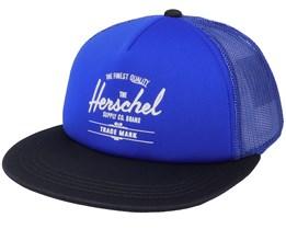 Kids Whaler Mesh Surf The Web/Black White Trucker - Herschel