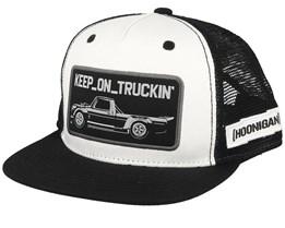 Keep On Truckin Black/White Trucker - Hoonigan