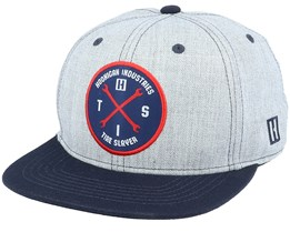 Hits V2 Heather Grey/Navy Snapback - Hoonigan