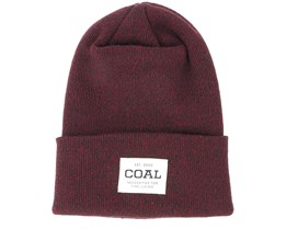 The Downhill Dark Burgundy Beanie - Coal