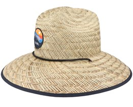 Clearwater Natural Straw Hat - Coal