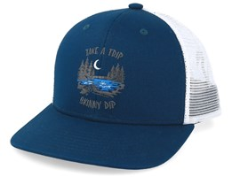 Tall Tales Teal Blue Trucker - Coal