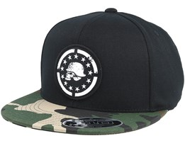 Rebellion Black 110 Snapback - Metal Mulisha