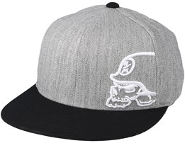 Destruct Black/Heather Grey Fitted - Metal Mulisha