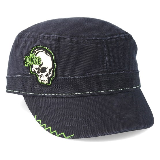 Keps Pike Black Cadet Skull Green Black Army - Bioworld - Svart Army