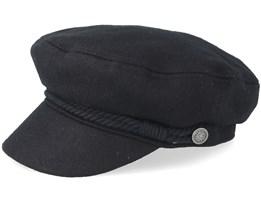 Skipper Black Flat Cap - Barts