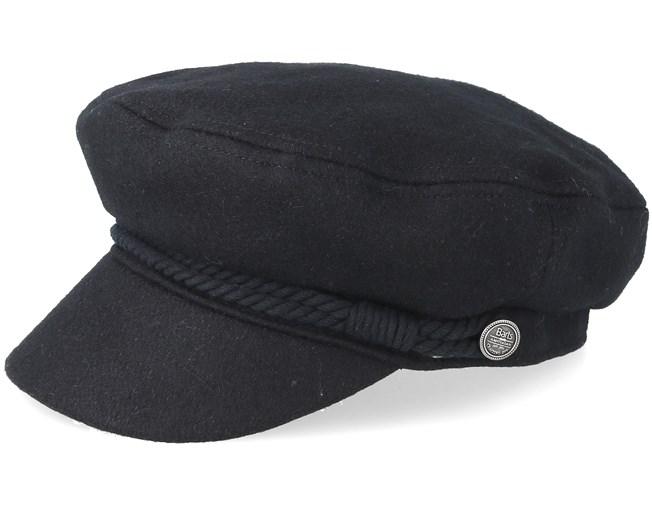 Skipper Black Flat Cap - Barts caps - Hatstoreworld com