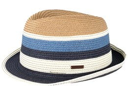 Loet Navy/White/Brown Trilby - Barts