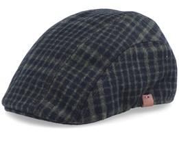 Dublin Checkered Army Green Flat Cap - Barts