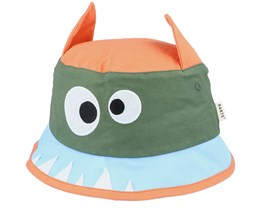 Kids Hippo Camo Green Bucket - Barts