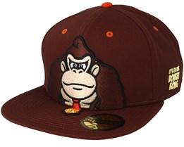 Donkey Kong Nintendo Brown Snapback - Bioworld