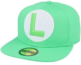 Nintendo Luigi Logo Green Snapback - Difuzed