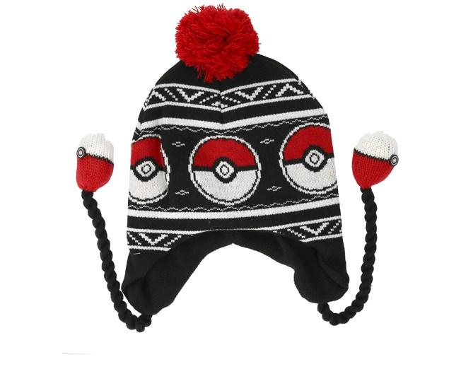 64f0ef229f5 Pokémon Pokeball Laplander Black Beanie - Bioworld beanies -  Hatstoreaustralia.com