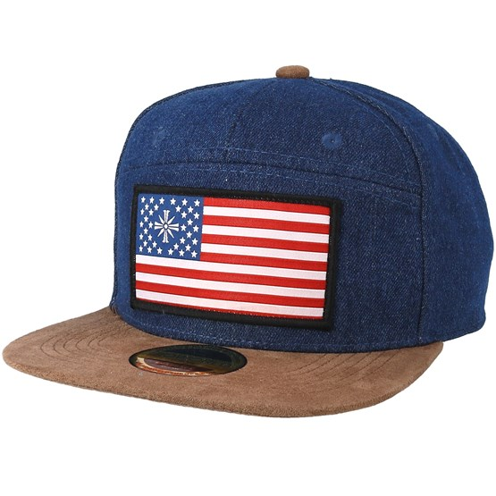 Far Cry 5 American Flag Denim Brown Snapback Bioworld Caps Hatstoreworld Com