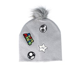 Super Mario Patches Grey Pom - Bioworld