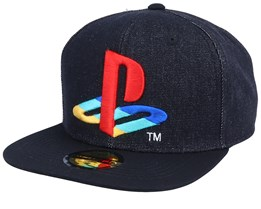 Playstation Original Logo Black Denim Snapback - Bioworld