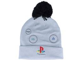 Playstation Original Logo Console Grey Pom - Bioworld