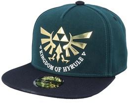 Zelda Hyrule Green/Black Snapback - Difuzed