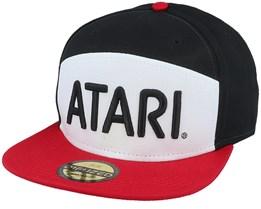 Atari Retro Colorblock White/Black/Red Snapback - Difuzed