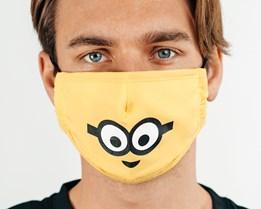 1-Pack Universal Minions Yellow Face Mask - Difuzed