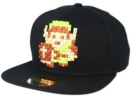 Nintendo Zelda 8bit Pixel Link Black Snapback - Bioworld