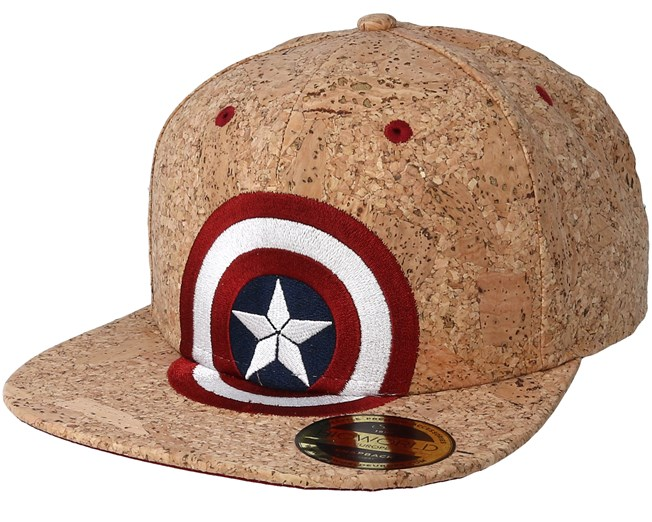 Captain America Civil War Shield Logo Cork Snapback - Bioworld caps ... 18c012545f23