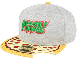 Teenage Mutant Ninja Turtle Pizza with Cut Out Grey Snapback - Bioworld