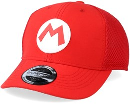 Kids Nintendo Mario Curved Bill Trucker Red Adjustable - Bioworld
