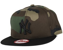 6b48f3f956aa0 NY Yankees Camo Crown Green 9Fifty Snapback - New Era