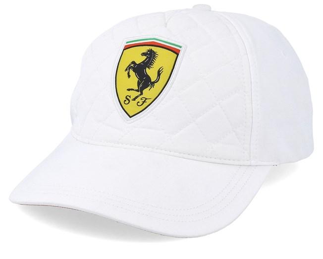 Scuderia Ferrari Quilt White Adjustable Formula One Cap Hatstore De