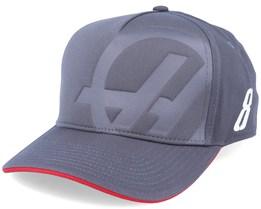 Haas Team Driver Cap Charcoal Adjustable - Formula One