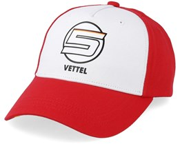 Vettel Baseball Cap White/Red Adjustagble - Formula One