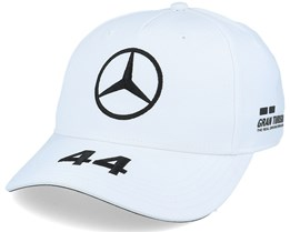 Mercedes Rp Lewis Driver Baseball Cap 2 White Adjustable - Formula One