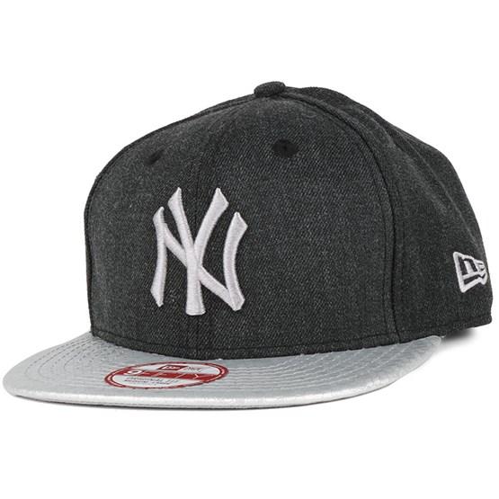 cheaper 74888 1d333 Heather Hex NY Yankees Black 9Fifty Snapback - New Era cap - Hatstore.co.in