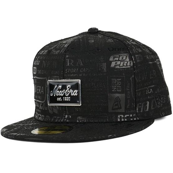 Keps Brand Print Black/Black 59Fifty - New Era - Svart Fitted