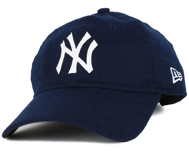 cheap for discount aae7b b46d5 NY Yankees Wool Stitch Logo Navy 920 Adjustable - New Era