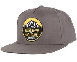 Summit Light Charcoal Snapback - Northern Hooligans