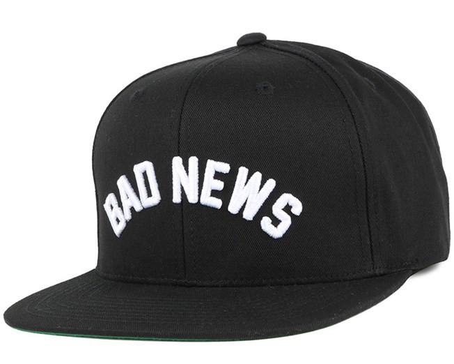 Bad News Black Snapback - Grizzly Griptape caps  71968fe64cd