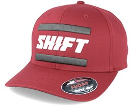 3Lack Label Dark Red Flexfit - Shift