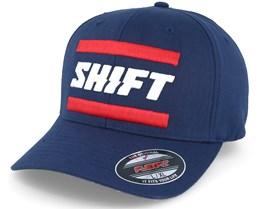 3Lack Label Navy Flexfit - Shift
