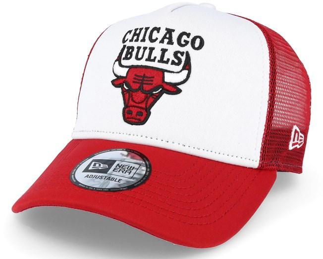 Chicago Bulls White Red Trucker Adjustable - New Era caps  ade99fc9111